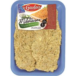 Escalopes de poulet Les Milanaises fromage ail/fines herbes