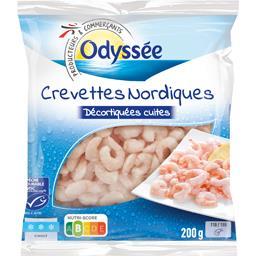 Crevettes nordiques cuites décortiquées