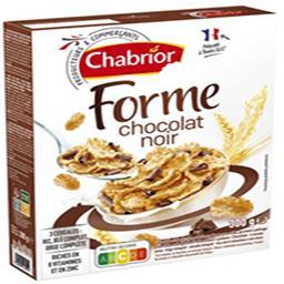 Céréales Forme chocolat noir