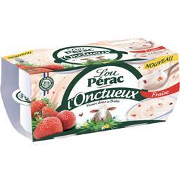 Yaourt doux L'Onctueux de brebis fraise