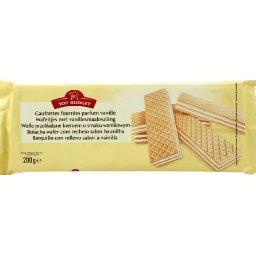 Gaufrettes fourrées arôme vanille,