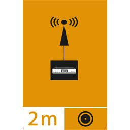 Câble coaxial pour antenne satellite + fiches 'F' mâle/mâle