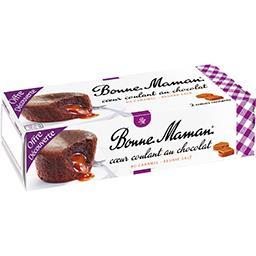 Cœur coulant au chocolat au caramel beurre salé