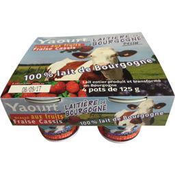 Yaourt brassé aux fruits fraise cassis