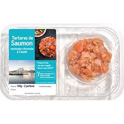 Tartare de saumon marinade citronnée à l'aneth
