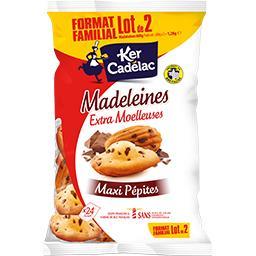 Ker Cadélac Madeleines maxi pépites de chocolat