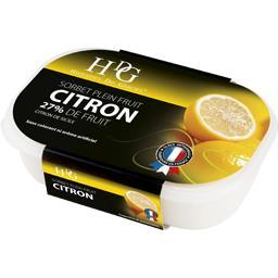 Sorbet plein fruit citron 27% de fruit