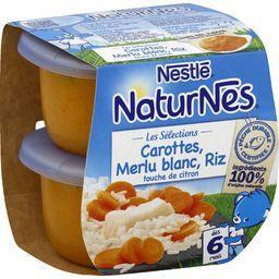 Les Sélections - Carottes, merlu blanc, riz, dès 6 m...