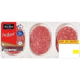 Jean Rozé Steaks hachés 5% MG la barquette de 6 - 600 g