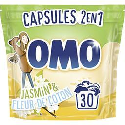 Omo Capsules de lessive lilas blanc et ylang ylang le sachet de 30 capsules - 723 g
