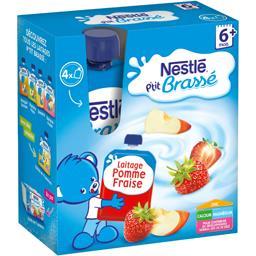 P'tit Brassé - Laitage pomme fraise, 6+ mois