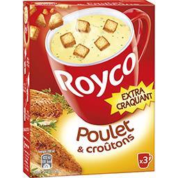 Soupe Délice de Poulet & croûtons