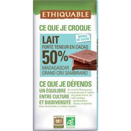 Chocolat au lait 50% Madagascar BIO