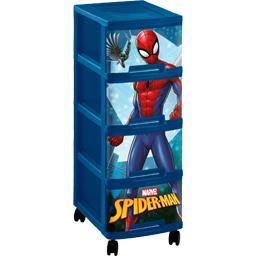 Tour décor Spiderman 4 tiroirs A4 10 l + roulettes