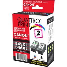 Pack cartouches encre compatibles Canon PG-545 XL/CL...