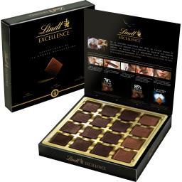 Lindt Excellence - Assortiment de carrés dégustation la boite de 32 carrés - 176 g
