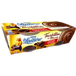Tourbillon de Mousse chocolat noir coulis & éclats chocolat