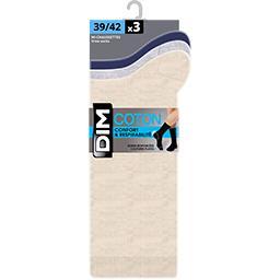 Mi-chaussettes coton 43/46 coloris assortis