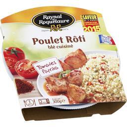 Poulet rôti blé cuisiné