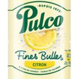 Boisson fines bulles citron
