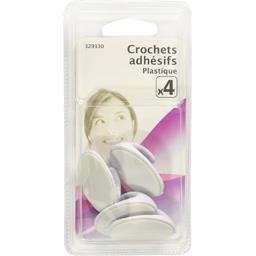 Crochets adhésifs plastique