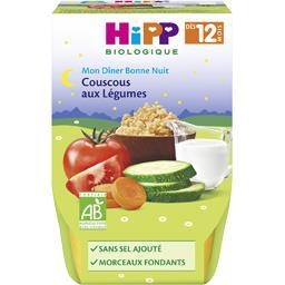 Mon Dîner Bonne Nuit - Couscous aux légumes BIO, dès 12 mois