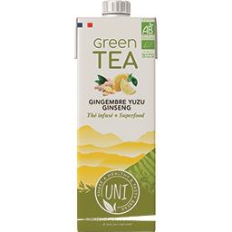 Boisson Green Tea gingembre yuzu ginseng BIO