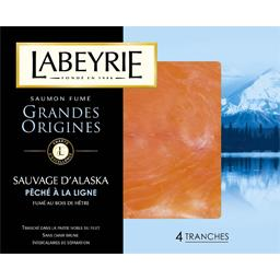 Saumon fumé Grandes Origines sauvage d'Alaska