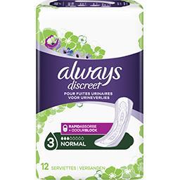 Discreet - normal - serviettes pour fuites urinaires