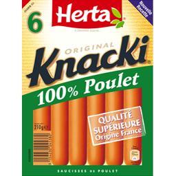 Knacki - Saucisses 100% poulet