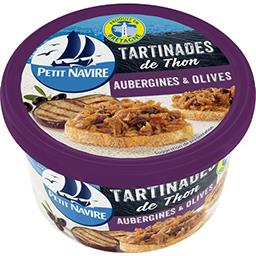 Tartinades de thon aubergines & olives