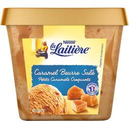 Crème glacée caramel beurre salé petits caramel croquants