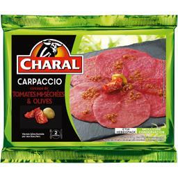 Carpaccio concassé de tomates mi-séchées & olives