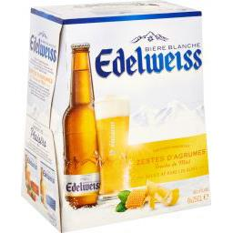 Bière blanche aromatisée aux zestes d'agrumes