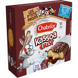 Barre chocolatée Kassoa Crisp chocolat au lait riz s...