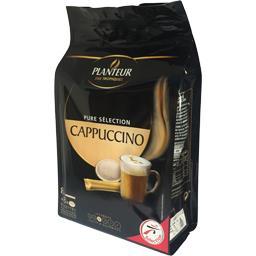 Dosette de café moulu et stick de cappuccino
