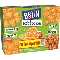Belin Assortiment de crackers Réception la boite de 380 g - Offre Apéritif