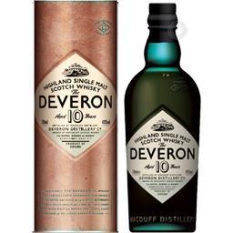 Glen Deveron Schotch Whisky, 10 ans d'âge l'étui de 70 cl
