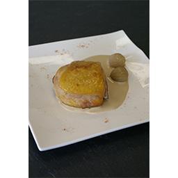 Moelleux de poularde & sauce jus de truffes noires d'hiver