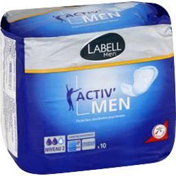 Labell Men - Protections absorbantes Activ'Men le paquet de 10