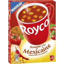 Soupe à la mexicaine maïs chili et croûtons