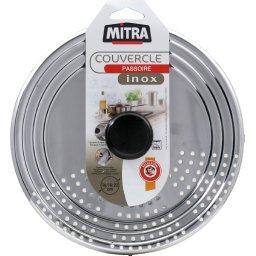 Couvercle passoire inox anti gras, D16/18/20cm