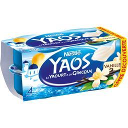 Nestlé Yaos - Le Yaourt à la Grecque vanille les 4 pots de 125 g - Offre découverte