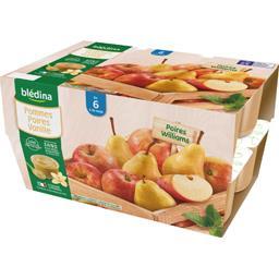 Desserts pommes poires vanille, de 6 à 36 mois