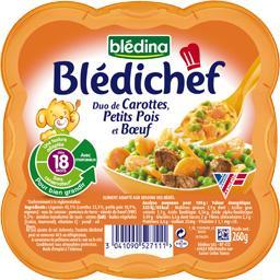 Blédichef - Duo de carottes, petits pois et bœuf, dè...