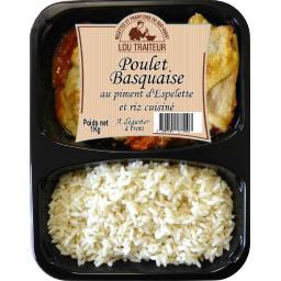Poulet basquaise au piment d'Espelette et riz cuisiné