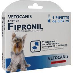 Traitement puces et tiques Fipronil petits chiens
