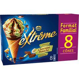 Cônes chocolat pistache pépites de nougatine