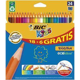 Crayons de couleur bic kid évolution coloris assortis