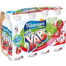 Yaourt à boire Mini Yab saveurs framboise/fraise